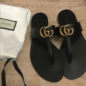 New Gucci marmont thong sandals 36.5